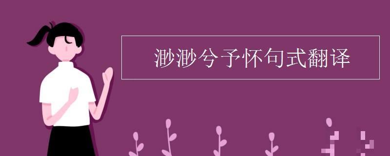 渺渺兮予怀句式翻译