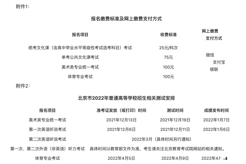 北京2022年普通高等学校招生11月进行报名