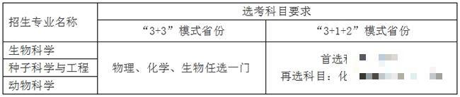 中国农业大学2021年强基计划招生简章